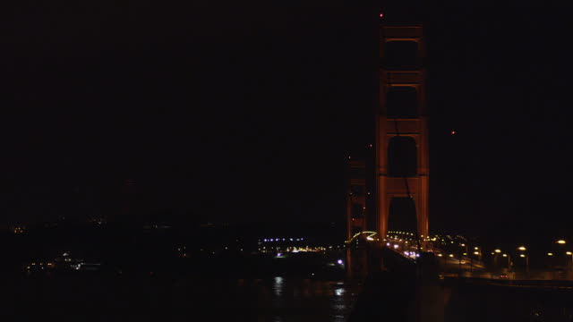 golden gate bridge at night - maroon stock videos and b-roll footage