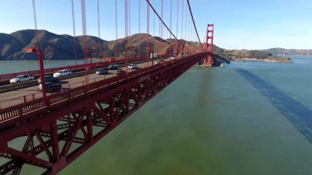 golden gate bridge in san francisco california - カリフォルニア州 サンフランシスコ点の映像素材/bロール