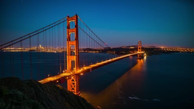 golden gate bridge in san francisco - time lapse - golden gate bridge stock videos & royalty-free footage