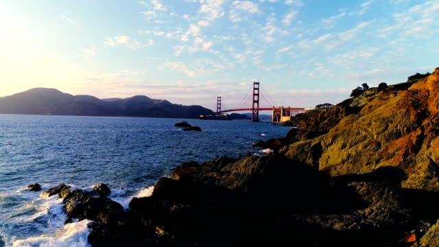 golden gate bridge of san francisco bay area california international landmark - san francisco bay area stock videos & royalty-free footage