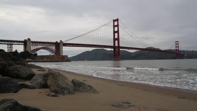 Golden Gate Bridge on a cloudy day