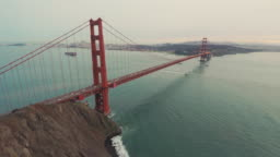 Golden Gate Bridge San Francisco Bay Aerial