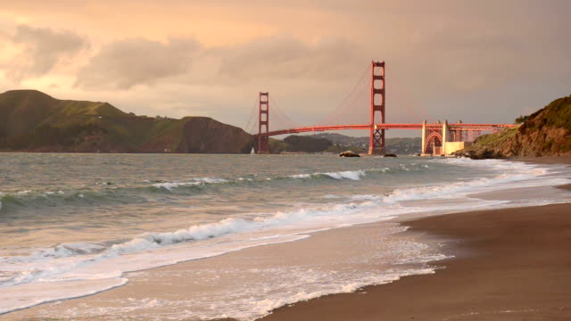 golden gate bridge, san francisco, california - northern california stock videos and b-roll footage
