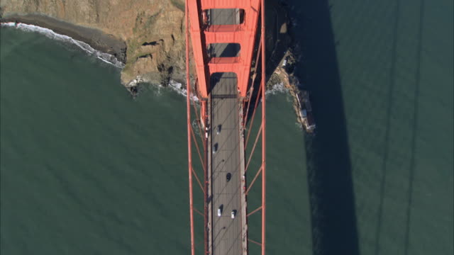 aerial golden gate bridge / san francisco, usa - golden gate bridge stock-videos und b-roll-filmmaterial