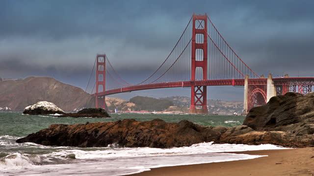 golden gate bridge. san francisco - san francisco bay stock videos & royalty-free footage