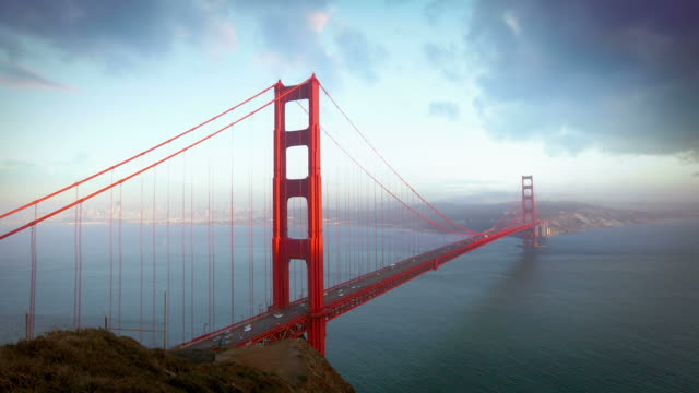 golden gate bridge, san francisco - san francisco california video stock e b–roll