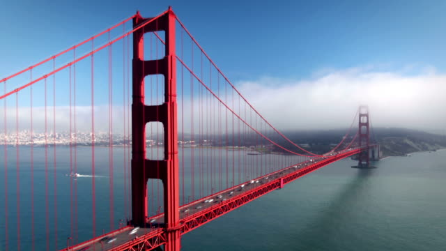 golden gate bridge, san francisco - golden gate bridge stock-videos und b-roll-filmmaterial