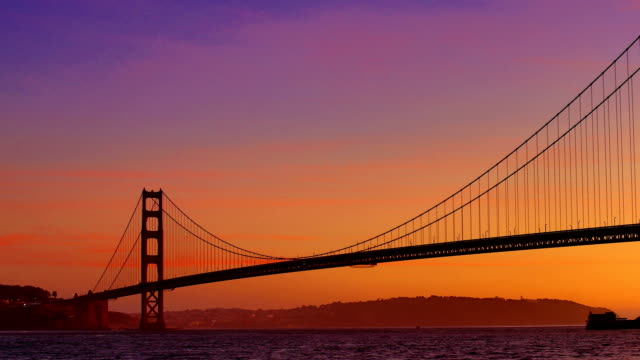 golden gate bridge sunrise - marin stock videos & royalty-free footage