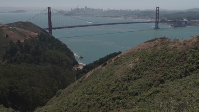 vídeos y material grabado en eventos de stock de golden gate bridge tilt shot - vector