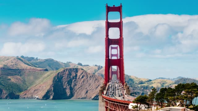 golden gate bridge traffic time lapse san francisco - traffic time lapse stock videos & royalty-free footage