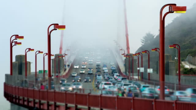 time lapse: golden gate bridge traffic - monument stock videos & royalty-free footage