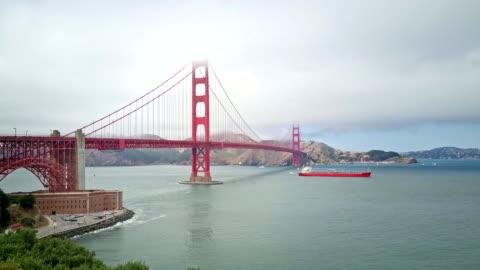 golden gate bridge - bay of water stock videos & royalty-free footage