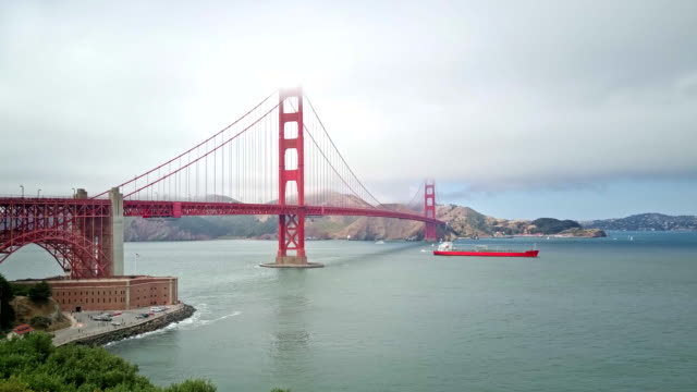 golden gate bridge - san francisco california video stock e b–roll