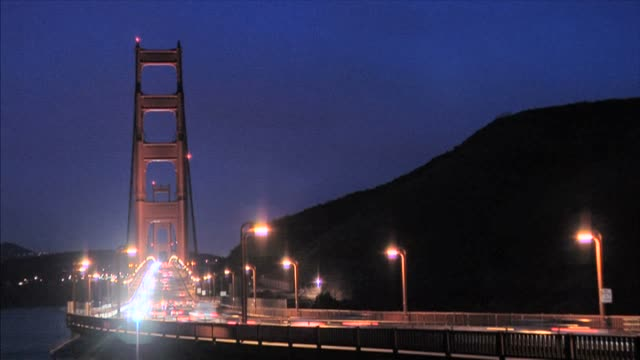 golden gate pre-dawn - personal land vehicle stock videos & royalty-free footage
