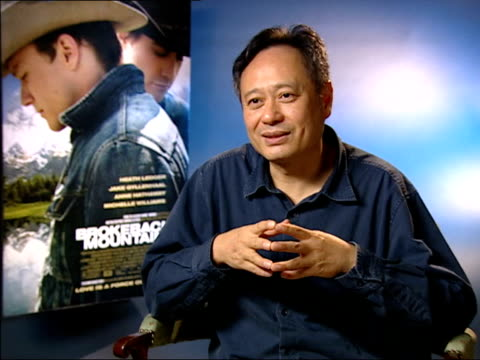 Preview ENGLAND London INT Ang Lee interviewed SOT Seems to be existential the idea of Brokeback Mountain they build a relationship illusion of love...