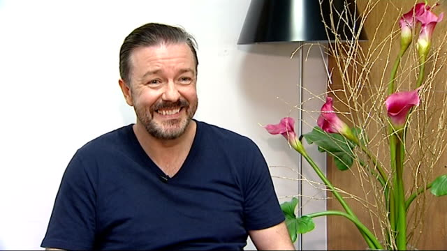 golden globes awards ceremony: ricky gervais to host again; england: london: gervais interview sot - i don't know where these people are who are so... - ricky gervais stock videos & royalty-free footage