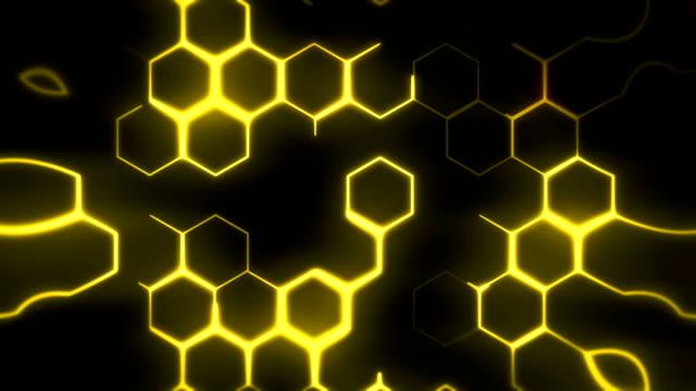 Gyllene hexagoner bakgrund loop
