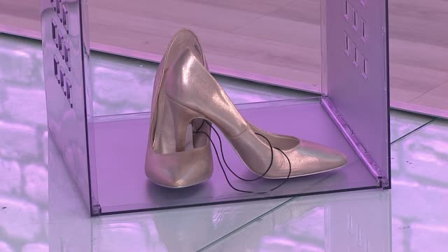 golden high-heeled shoes - slipper stock videos & royalty-free footage