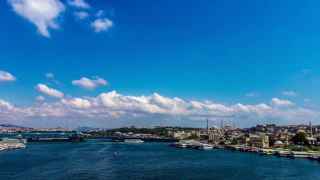 golden horn in istanbul - timelapse - golden horn istanbul stock videos and b-roll footage