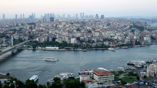 golden horn, istanbul, turkey - golden horn istanbul stock videos and b-roll footage