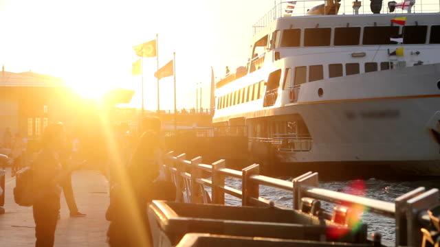 ゴールドのホーン,イスタンブール,トルコ - イスタンブール 金角湾点の映像素材/bロール