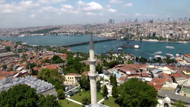 golden horn to suleymaniye mosque - suleymaniye mosque stock videos and b-roll footage
