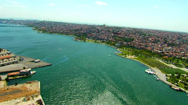 ゴールドのホーン - イスタンブール 金角湾点の映像素材/bロール