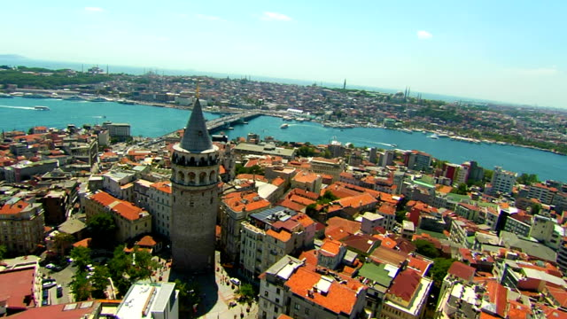 golden horn-galata tower - golden horn istanbul stock videos and b-roll footage