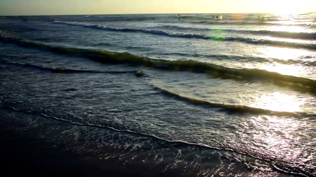 Golden Stunden Padre Island Beach in den fantastischen Sonnenaufgang über dem Meer