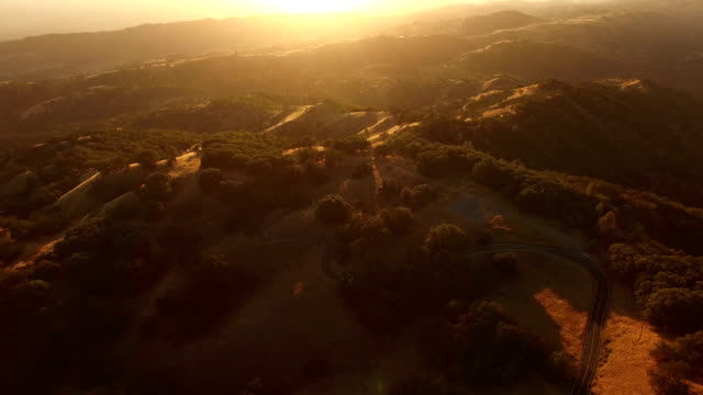 golden hour over california hills - marin stock videos & royalty-free footage