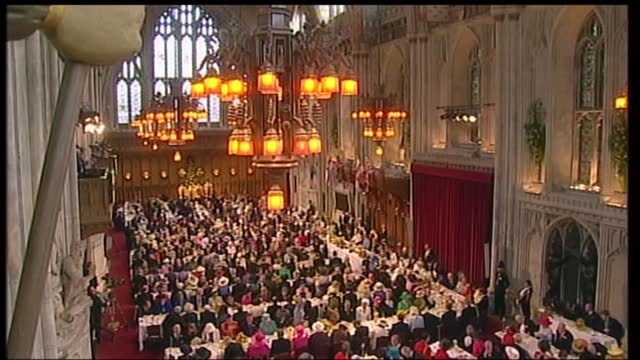 international clean feed: 12.15 - 13.45: 16:9; england: london: guildhall: int lord mayor of london michael oliver speech sot part 2 of 2 . - but his... - hobbies stock videos & royalty-free footage