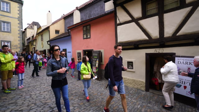 golden lane, prague castle, prague - hradcany castle stock videos and b-roll footage