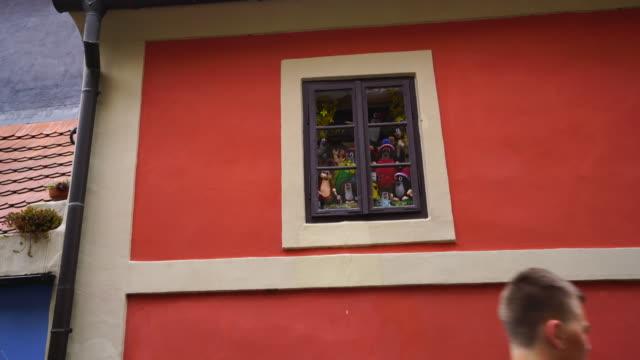 golden lane, prague castle, prague - hradcany castle stock videos & royalty-free footage