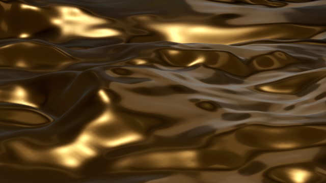 golden liquid surface - metal stock videos & royalty-free footage