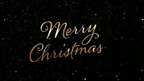 golden merry christmas - text stock videos & royalty-free footage