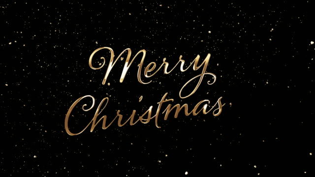 golden merry christmas - christmas stock videos & royalty-free footage