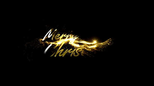 stockvideo's en b-roll-footage met gouden merry christmas - tekst