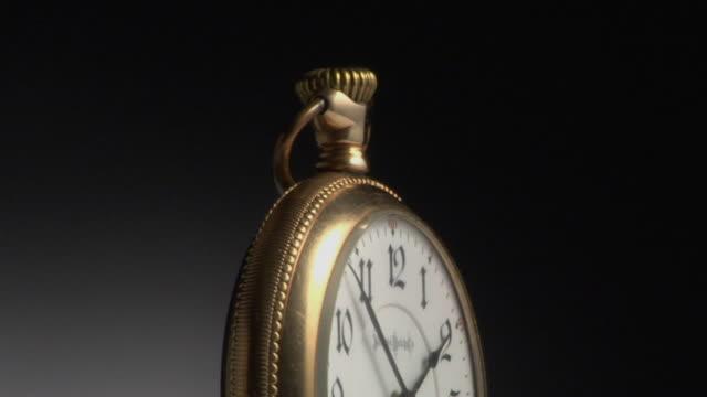 cu, golden pocket watch - pocket watch stock videos & royalty-free footage
