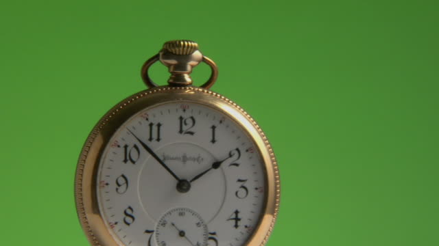 cu, golden pocket watch - pocket watch stock videos and b-roll footage