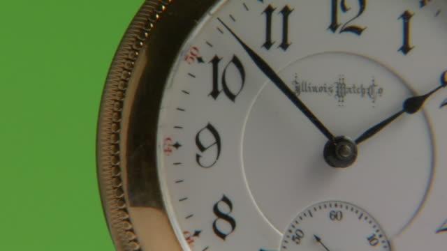 ecu,  golden pocket watch - pocket watch stock videos and b-roll footage