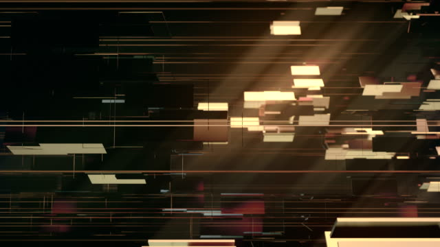 golden shiny metallic rectangular shapes rotating around horizontal axis. luxurious motion graphics background. 3d rendering. 4k, ultra hd resolution. - dorato colore descrittivo video stock e b–roll