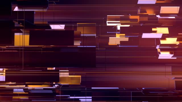 vídeos y material grabado en eventos de stock de formas rectangulares metálicas brillantes doradas que giran alrededor del eje horizontal. fondo de gráficos de movimiento de lujo. renderizado 3d. resolución hd. - geometría
