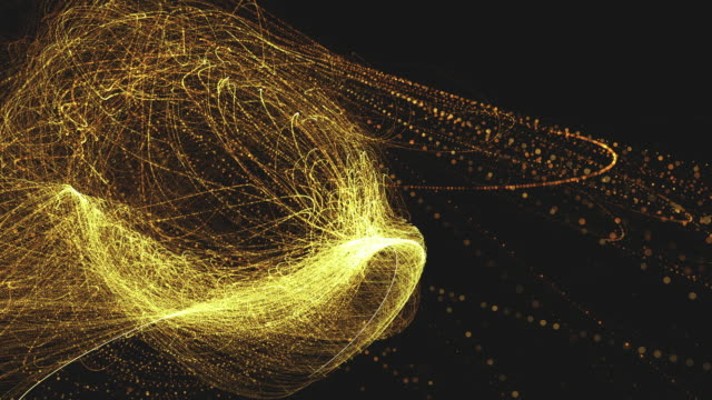 golden space glittering particle background in 4k - string stock videos and b-roll footage