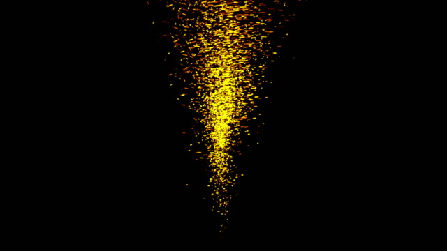 golden sparks like tornado isolated on black - fireball stock videos & royalty-free footage