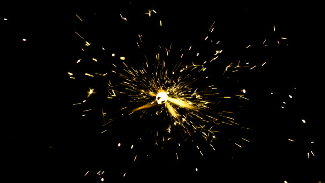 vídeos y material grabado en eventos de stock de golden chispas - sparks