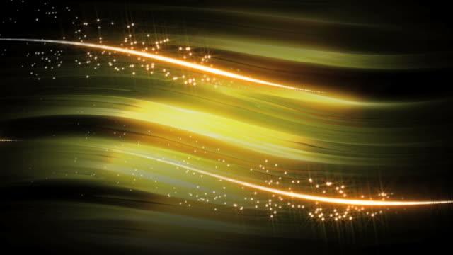 ゴールドのストロークの背景ループ - 黄色点の映像素材/bロール