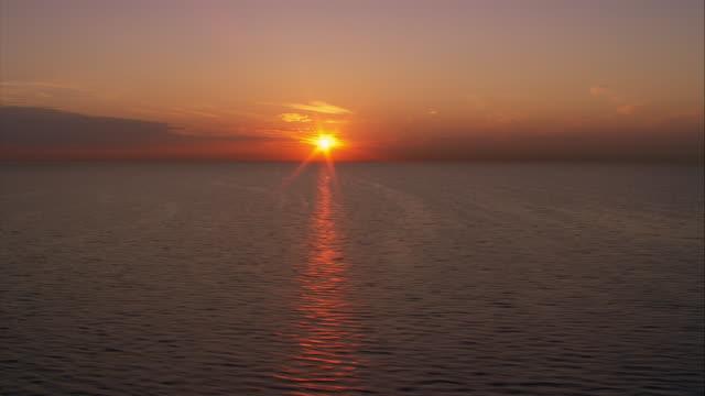 Golden sunlight sparkles on Lake Michigan.