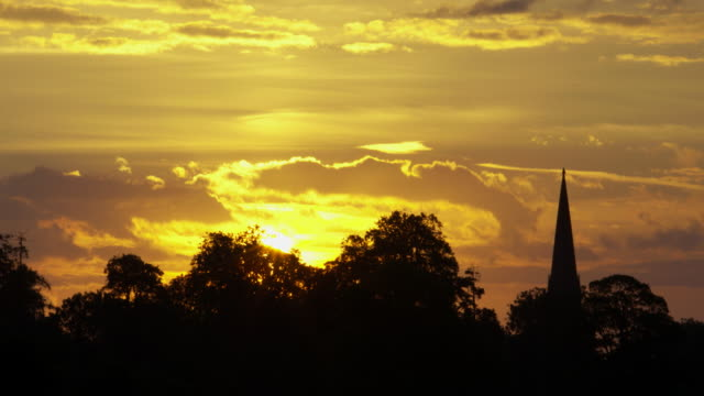 golden sunrise over kingweston, somerset - somerset england stock videos & royalty-free footage