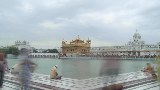 golden temple time lapse - punjab india stock videos and b-roll footage