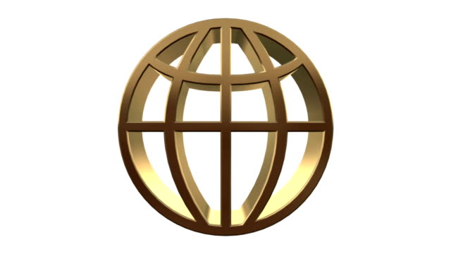 golden world symbol - map icon stock videos and b-roll footage